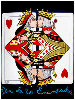 "20x30""Quality CANVAS decor.Home room art.Gambling Poker couple.6632"