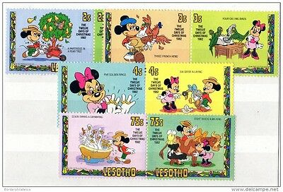 Lesotho 1982 Christmas Disney Set Mickey Mouse Mint MNH X2396