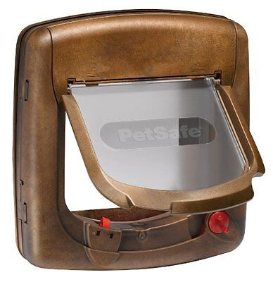 Petsafe Staywell Deluxe Magnetic Cat Flap Woodgrain Pet Supplies Petsafe Magnet