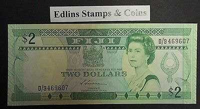 Fiji $2  bank note 1980  D/946907 circulated condition