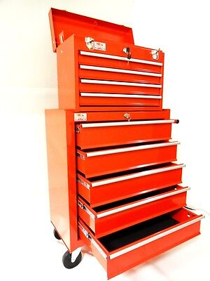 New Steel Tool Box Tool Chest Cabinet Roll Cab Wheeled Roller With Drawers Pro1