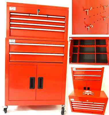 New Steel Tool Box Tool Chest Cabinet Roll Cab Wheeled Roller With Drawers Pro2
