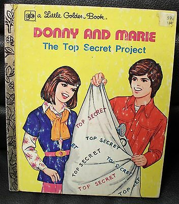 Vintage Donny and Marie The Top Secret Project Little Golden Book, 1977, TV