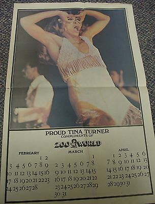 Tina Turner Zoo World Calendar, 1974
