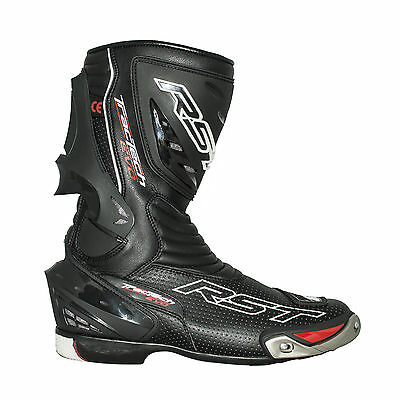 RST Mens Tractech EVO 2 Sports Boots - Black Motorcycle Track Race Street Road