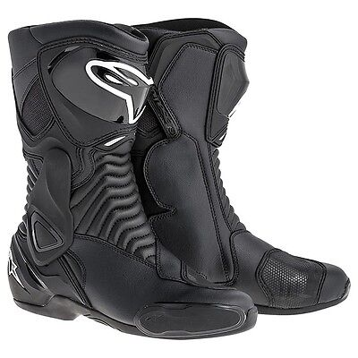 Alpinestars SMX-6 Motorcycle Road Sports Boots Race Black