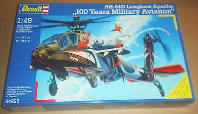 Revell Ah-64D Longbow Apache Helicopter 1:48 Scale Model Kit Army Attack