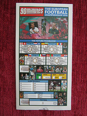 1996 Football Fixture Card Euro Championship Vintage Collectable Sport FC7