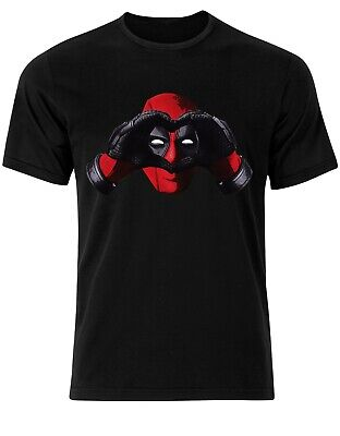 Cute Deadpool Love Hands Merc With A Mouth Valentines Mens tshirt top Tee AF70