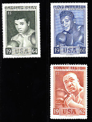 1964 Heavyweight Boxing Champion Stamp Set Of 23 From Sweden Ali,Marciano