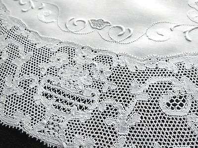 FINE & BEAUTIFUL Antique POINT de PARIS Lace ~8 OVAL PLACEMATS~ DEEP LACE Linen