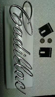 CADILLAC 1965-68 grille emblem script #1485411 absolutely perfect factory orig.