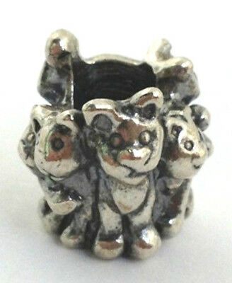 AUTHENTIC  TROLLBEADS 11354 FAMILY OF KITTENS