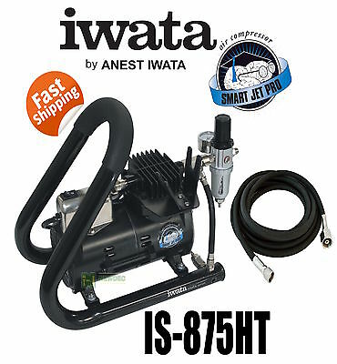 Iwata Is875Ht New Smartjet Plus Airbrush Air Compressor Tank Handle Spray Gun