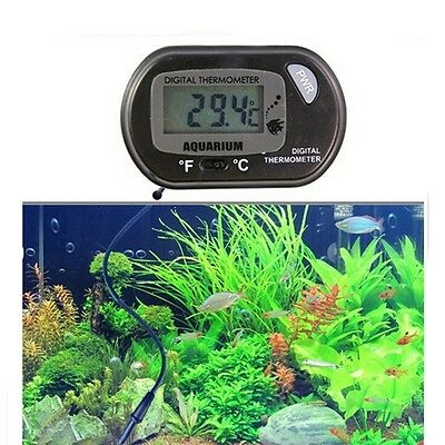 Digital LCD Tank Aquarium Marine Water Terrarium Thermometer Temperature new US