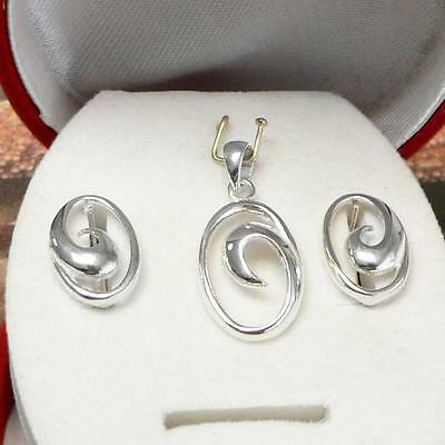 Sterling Silver .925  Set- Pendant And Earrings
