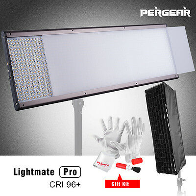 Pergear Pro CRI 96+ Bi-color 1440 LED Panel Studio Video Light + Soft Box + Bag