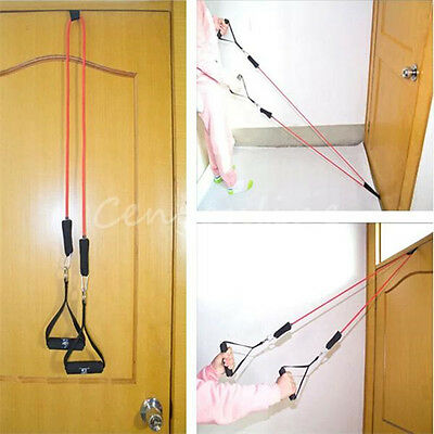 Pulldown Tricep Bank Rope Cable Handle V Bar Dip Resistance Exercise Gym Train