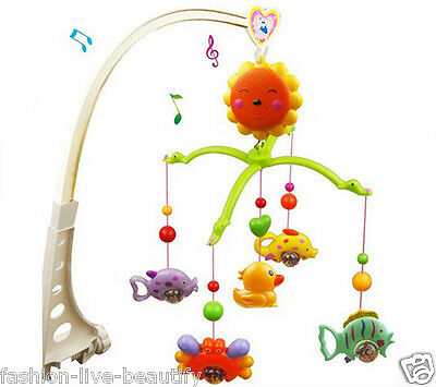 Baby Gym Activity Soft Music Crib Bed Bell Educational Toy Rotate Wind-up Twist