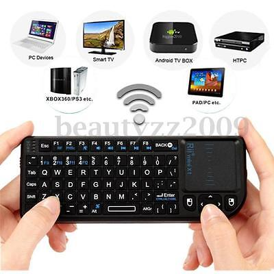Mini 2.4G Wireless Tastiera Keyboard Con Touchpad Mouse Per Notebook PC Smart TV
