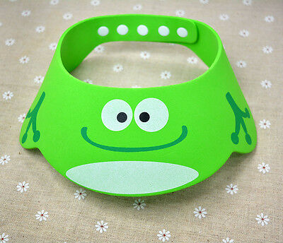 Adjustable Eye Shield Baby Hat Cute Wash Kids Shower Cap Bath Protect