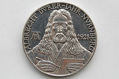 Germany Medal the Weimar Republic A. Durer 1928 Silver Nice Grade !!!!!