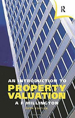 An Introduction to Property Valuation by Millington, Alan Paperback Book The