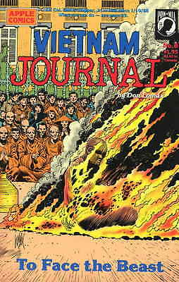 VIETNAM JOURNAL #8, To Face The Beast, DON LOMAX, NM (1989) Apple Comics