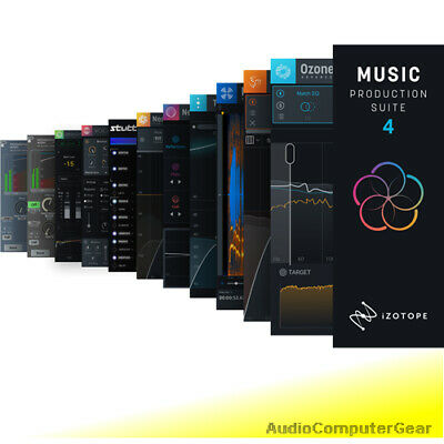 iZotope MUSIC PRODUCTION BUNDLE 2 w/Ozone 7 Advanced Neutron Nectar Trash RX NEW