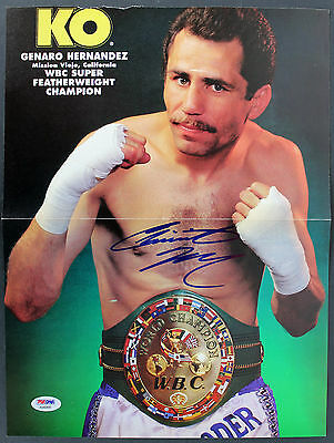 Genaro Hernandez Authentic Signed 11x16 Boxing Magazine Page Poster PSA #AB40899