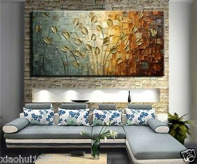 Abstract paintings of modern large-scale murals on canvas (No frame)