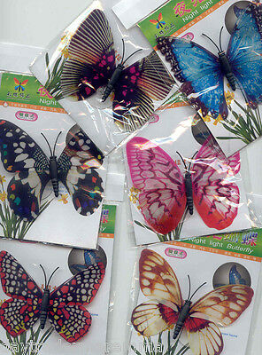 NEW PIN BUTTERFLY DECORATIONS x 10 -LUMINATING