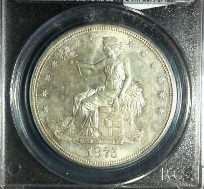 1875-S Trade Silver Dollar - PCGS MS62 - AWESOME COIN!