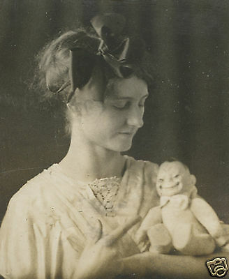Antique Vintage American Beauty Chinese Billikins Doll Interracial Funny Photo