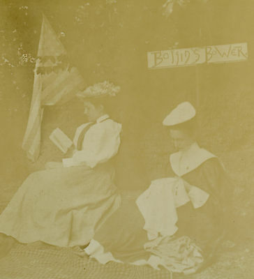 Antique Vintage American Rare Womens Rights Us Flag Cards Sew Boston Old Photo