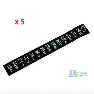 5pcs Temperature Thermometer Aquarium Fish Tank Sticker Adhesive Strip Home Brew