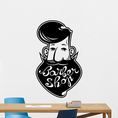 Barbershop Wall Decal Barber Shop Vinyl Sticker Hair Salon Art Decor Mural 29bar