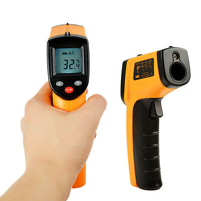 Handheld Digital LCD Thermometer GM300/GM550/GM700 Non-Contact IR Infrared W1E