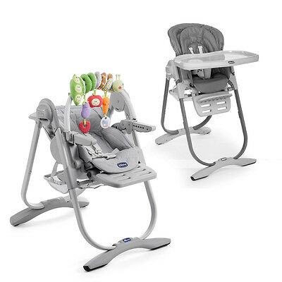 """CHICCO Polly Magic """"Light Grey"""" 3-in-1 High Chair 0+ Months - Brand NEW -"""