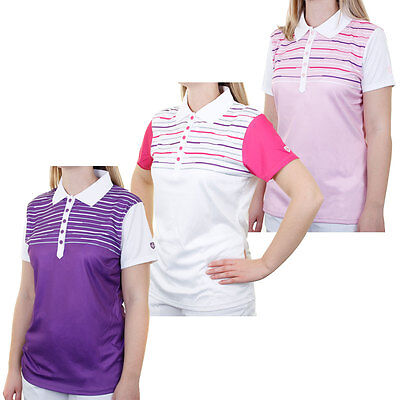46% OFF RRP Island Green Ladies IGLTS1484 Sublimated Tech Golf Polo Shirt