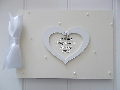 Personalised Baby Shower Guest Book Memory Scrapbook Quick Posting A5 Or A4