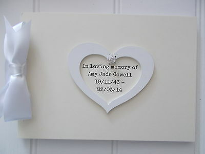 Personalised Funeral Wake Guest Book Memory Scrapbook Quick Posting A5 Or A4