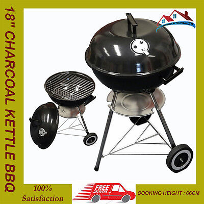 "18"" Kettle Barbecue BBQ Grill Outdoor Charcoal Patio Party Portable Round Stand*"