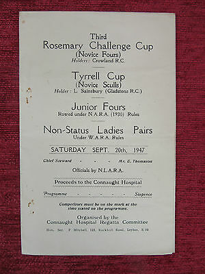 1947 Rowing Programme Rosemary Challange Cup Sept.20 Sporting FC7