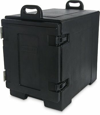 Carlisle Cateraide Insulated Front End Loading Food Carrier 5-Pan Capacity Black