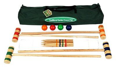 Traditional Garden Games 96 Cm Croquet Set Toy Game Kids Play Gift Traditional