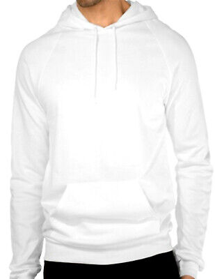 d202e3d05e3 HOODED PLAIN WHITE Sweatshirt Men Women Pullover Hoodie Fleece Cotton Blank