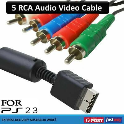 AV HD TV Audio Video Cord Cables 5 RCA Component For Sony PlayStation 3 PS3 PS2