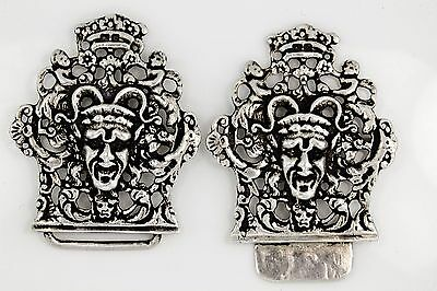 Antique C. 1860 Victorian Sterling Silver Womens Nurse's Carved Belt Buckle