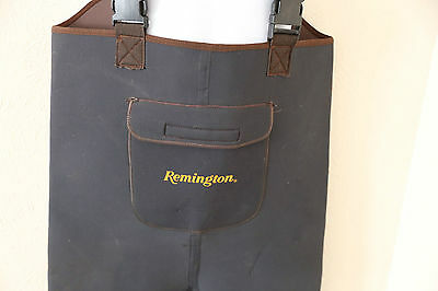 REMINGTON Breathable Neoprene Stocking Foot Chest WADERS Fishing Hunting Large